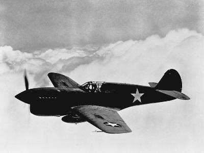 Vintage World War II Photo of a P-40 Fighter Plane-Stocktrek Images-Photographic Print