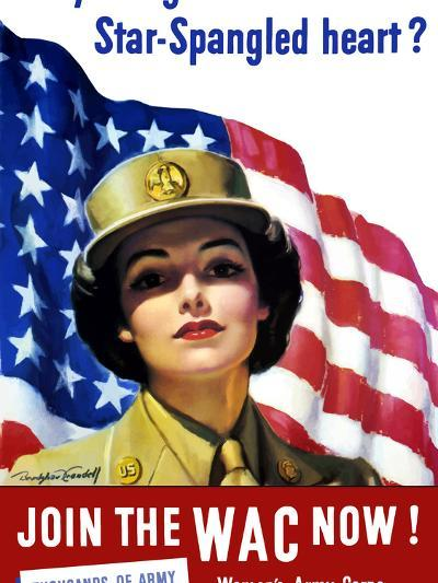 Vintage World War II Poster of a Member of the Women's Army Corps-Stocktrek Images-Photographic Print