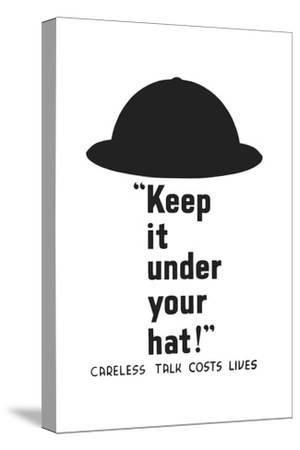Vintage World War II Propaganda Poster Featuring an Army Helmet