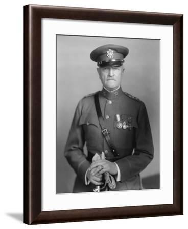 Vintage World War One Photo of General John J. Pershing-Stocktrek Images-Framed Photographic Print