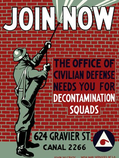vintage-wpa-poster-of-a-man-decontaminat