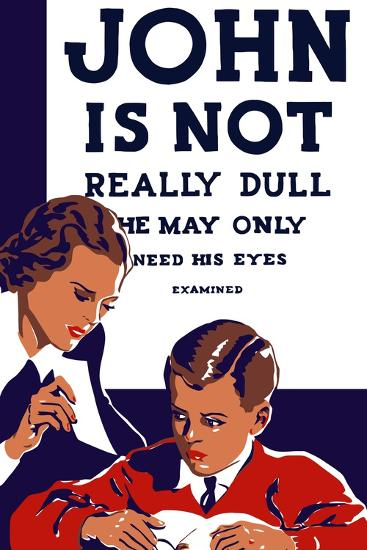 Vintage Wpa Propaganda Poster Featuring a Teacher and Young Boy Reading--Art Print