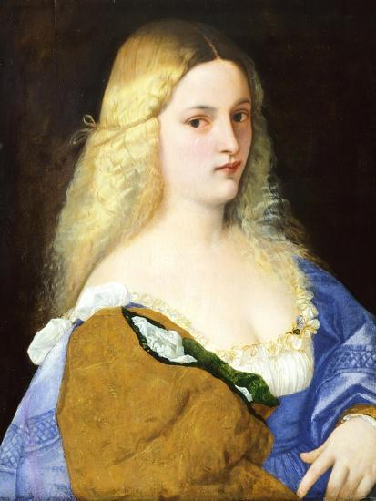 Violante, by Titian--Giclee Print