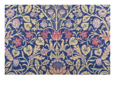 Violet and Columbine Furnishing Fabric, Woven Wool and Mohair, England, 1883-William Morris-Premium Giclee Print