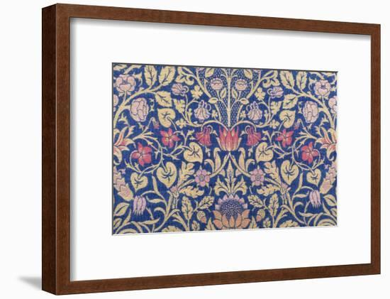 Violet and Columbine Furnishing Fabric, Woven Wool and Mohair, England, 1883-William Morris-Framed Premium Giclee Print