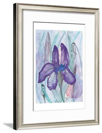 Violet Iris-Beverly Dyer-Framed Art Print