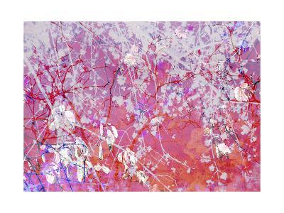 Violet Orange Abstract-Alaya Gadeh-Art Print