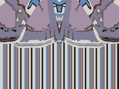 Violet Striped Ascension-Belen Mena-Giclee Print
