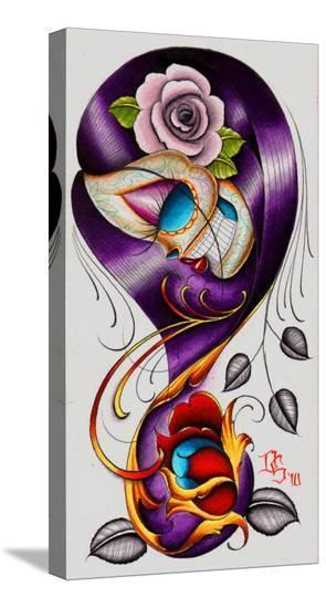 Violet-Dave Sanchez-Stretched Canvas Print