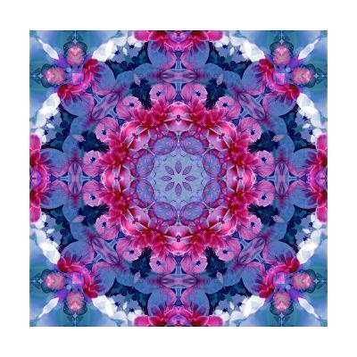 Violetta Blue Mandala-Alaya Gadeh-Art Print