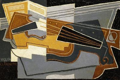 Violin and Clarinet, 1921-Juan Gris-Giclee Print