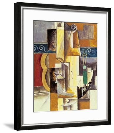 Violin And Guitar-Pablo Picasso-Framed Art Print