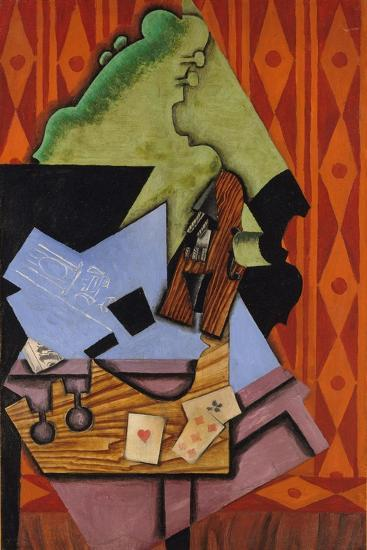 Violin and Playing Cards on a Table, 1913-Juan Gris-Giclee Print