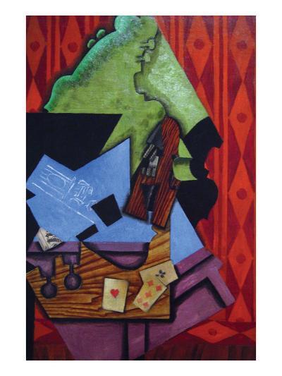 Violin and Playing Cards-Juan Gris-Art Print