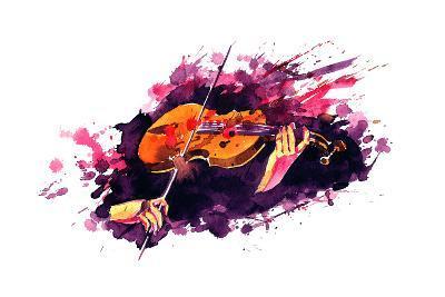 Violin-okalinichenko-Art Print