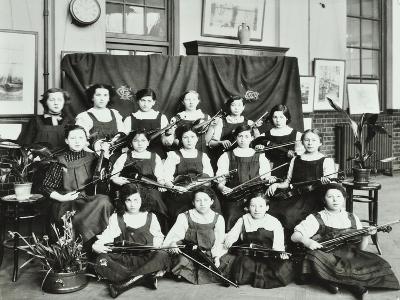 Violinists, Myrdle Street Girls School, Stepney, London, 1908--Photographic Print