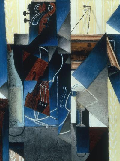 Violon et gravure accrochee (Violin and print), 1913-Juan Gris-Giclee Print