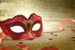 Vintage Pink Carnival Mask by viperagp