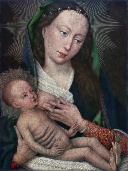 Virgin and Child, 1420-1460-Rogier van der Weyden-Giclee Print