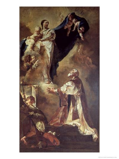 Virgin and Child Appearing to St. Philip Neri, 1725-26-Giovanni Battista Piazzetta-Giclee Print