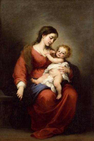 Virgin and Child, c.1670-72-Bartolome Esteban Murillo-Giclee Print
