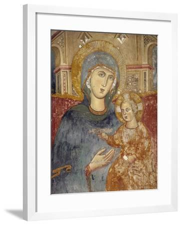 Virgin and Child, Detail from Central Section of Enthroned Madonna with Angels-Magister Consolus-Framed Giclee Print