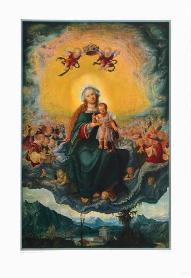 Virgin and Child in the Glory-Albrecht Altdorfer-Collectable Print