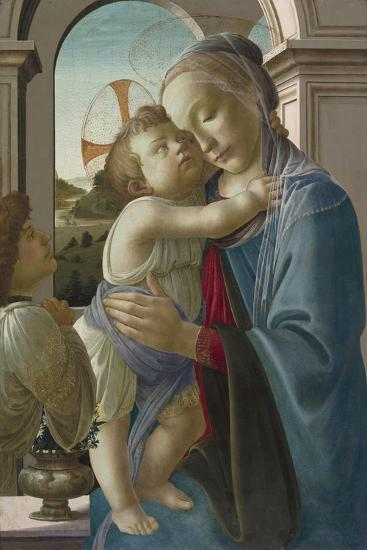 Virgin and Child with an Angel, 1475-85-Sandro Botticelli-Giclee Print