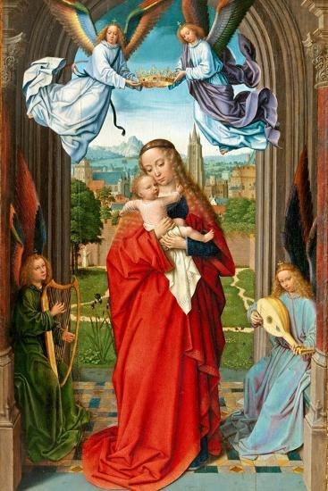 Virgin and Child with Four Angels, c.1510-15-Gerard David-Giclee Print