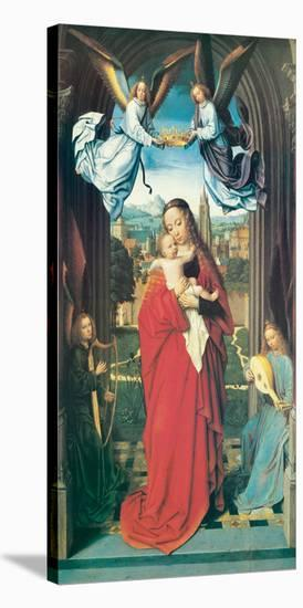 Virgin and Child With Four Angels, ca. 1505-Gerard David-Stretched Canvas Print