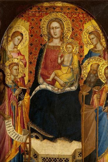 Virgin and Child with Four Saints-Lorenzo di Niccolo Gerini-Giclee Print