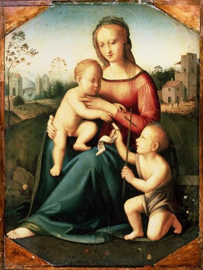 'Virgin and child with John the Baptist as a Boy', 16th century-Unknown-Giclee Print