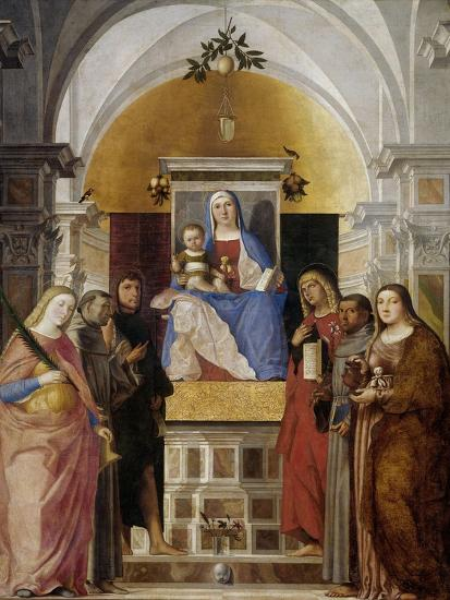 Virgin and Child with Saints-Marcello Fogolino-Art Print