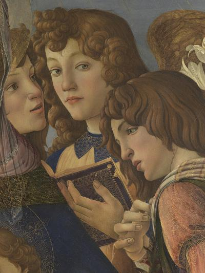 Virgin and Child with Six Angels (Madonna of the Pomegranate)-Sandro Botticelli-Giclee Print