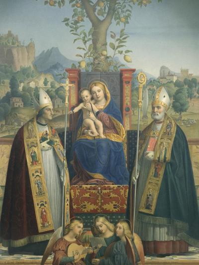 Virgin and Child with Ss Lorenzo Giustiniani and Zeno-Jérôme-Dai Libri-Giclee Print