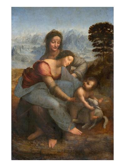 Virgin and Child with St. Anne by Leonardo da Vinci--Giclee Print