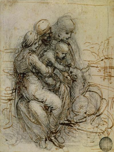 Virgin and Child with St. Anne-Leonardo da Vinci-Giclee Print