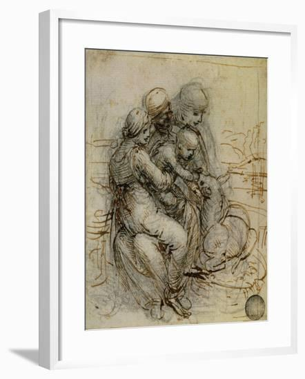 Virgin and Child with St. Anne-Leonardo da Vinci-Framed Giclee Print