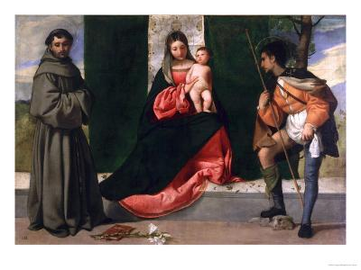 Virgin and Child with St. Anthony of Padua and St. Rocco-Giorgione-Giclee Print