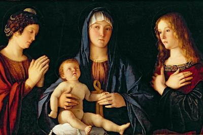 Virgin and Child with St. Catherine and Mary Magdalene, c.1500-Giovanni Bellini-Giclee Print