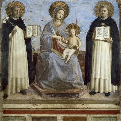 Virgin and Child with Sts. Dominic and Thomas Aquinas-Fra Angelico-Art Print