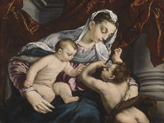Virgin and Child with the Young Saint John the Baptist, 1560/65-Jacopo Bassano-Giclee Print