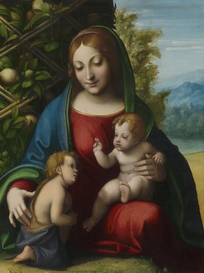 Virgin and Child with the Young Saint John the Baptist, C.1515-Correggio-Giclee Print