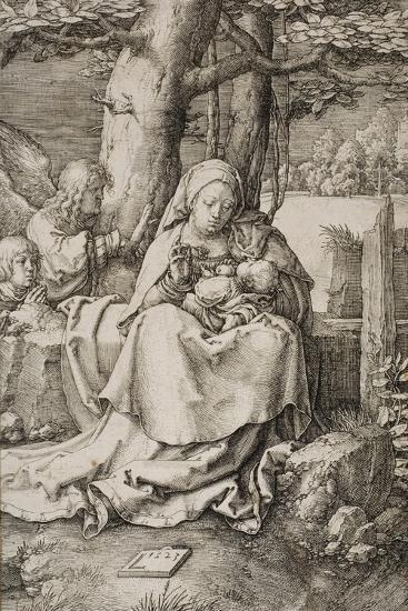 Virgin and Child with Two Angels, 1523-Lucas van Leyden-Giclee Print