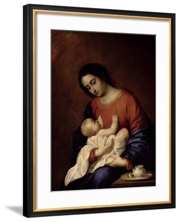 Virgin and Child-Francisco de Zurbarán-Framed Giclee Print