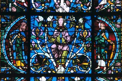 Virgin and Prophets, Stained Glass, Chartres Cathedral, France, 1194-1260--Photographic Print