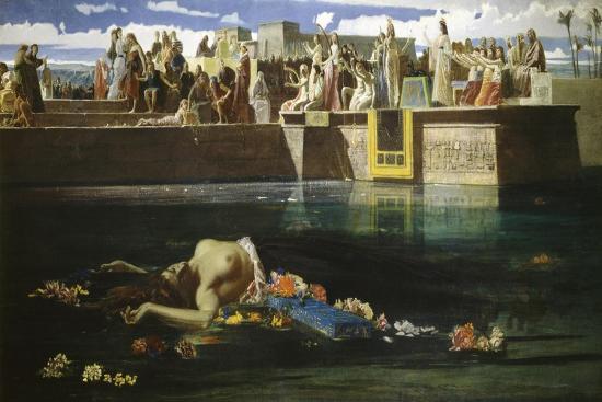 Virgin Being Sacrificed to Nile-Frederick Faruffini-Giclee Print