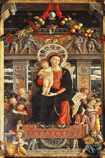 Virgin Enthroned, Detail from Central Part of San Zeno Altarpiece-Andrea Mantegna-Giclee Print