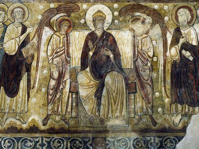 Virgin Enthroned in Chapter Room in Former Abbey of Lavaudieu, France, 12th Century--Giclee Print