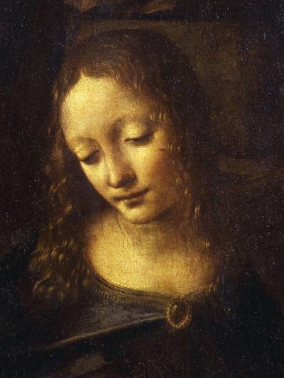 Virgin, from the Virgin of the Rocks, 1483-86, Detail-Leonardo da Vinci-Giclee Print